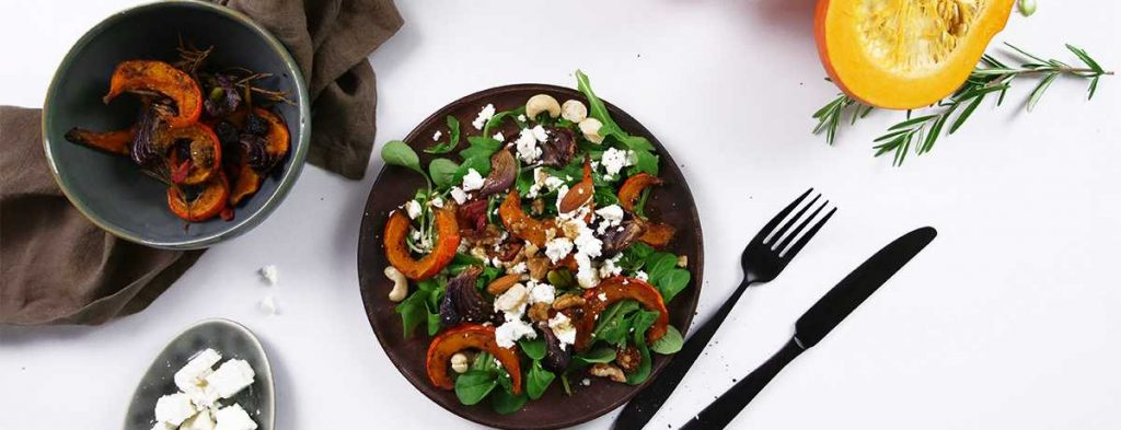 pumpkin recipe for salad with roasted pumpkin