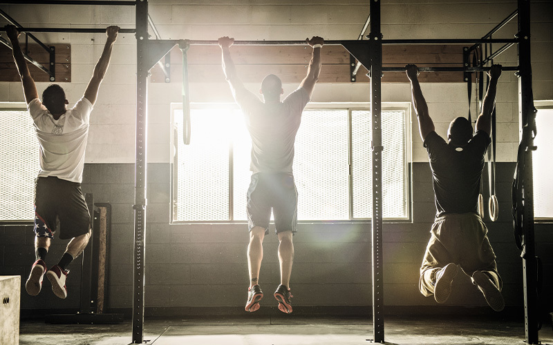 learn to do a pull-up, whether at the gym or at home