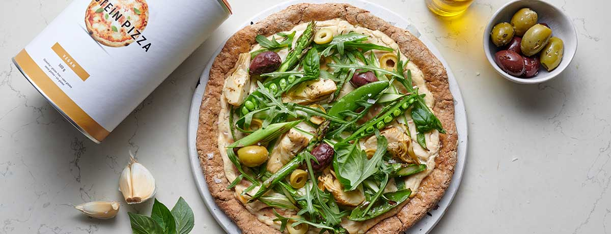 Our tip Vegetable Pizza with Purple Pesto