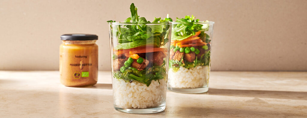 Sushi Salad in a glass