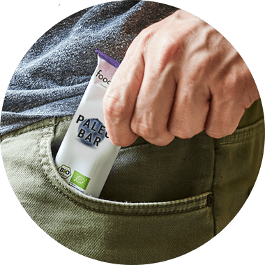 Paleo Bar in a backpack